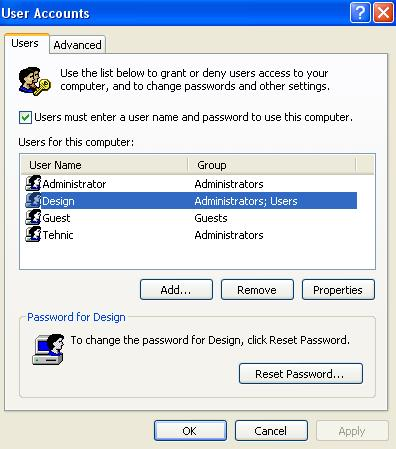Auto login in Xp