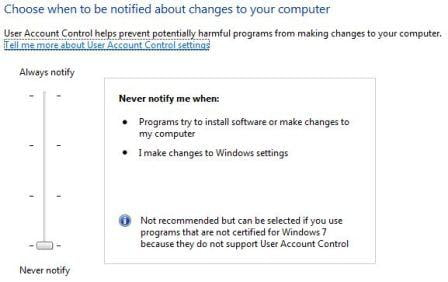 Cum sa dezactivam User Account Control in Windows 7