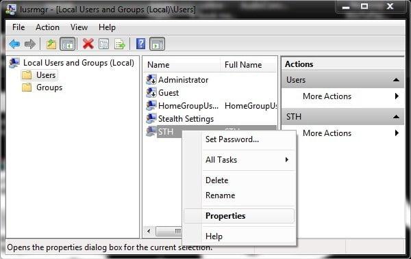 Restrictionati modificarea parolelor de logare ale userilor in Windows 7