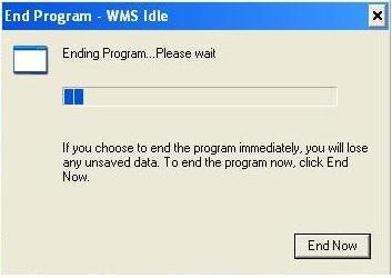 Ce trebuie sa faci cand ai eroarea End Program Wms Idle